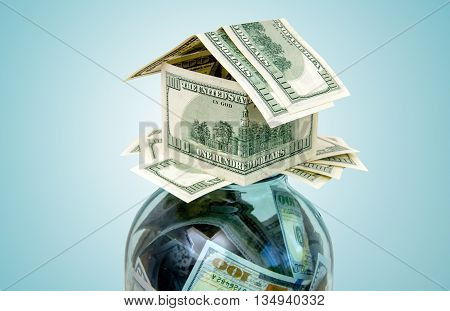 house created from the American currency symbol