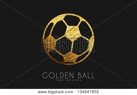 golden soccer ball. golden football. football logo. soccer logo