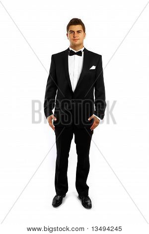 Young Groom In A Tuxedo