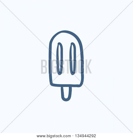 Popsicle vector sketch icon isolated on background. Hand drawn Popsicle icon. Popsicle sketch icon for infographic, website or app.