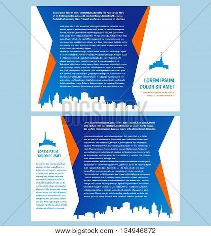 Business brochure folder city town tower design