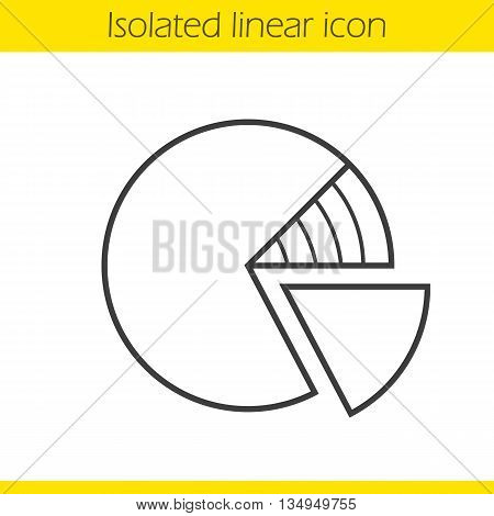 Diagram linear icon. Graph thin line illustration. Percentage diagram contour symbol. Vector isolated outline drawing