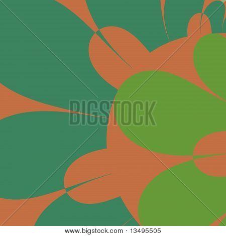 Green and Brown Petals
