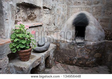 Kitchen In Santa Catalina Monastery In Arequipa, Peru
