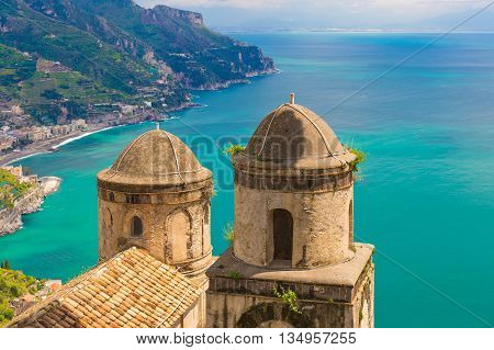 Fantastic View From Villa Rufolo, Ravello Town, Amalfi Coast, Campania Region, Italy