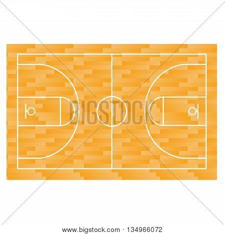 Basketball field, court, yard FIBA, app infographics and design