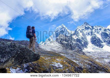 trekking in mountainsin  Peru South -  America