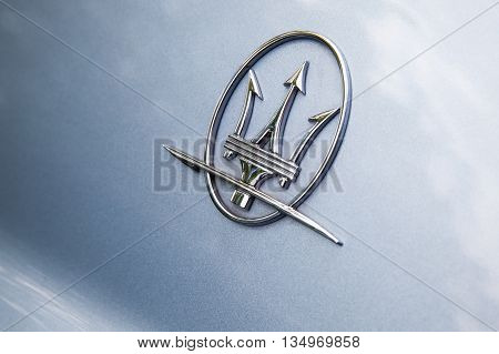 Maserati Car Logo, Closeup Photo