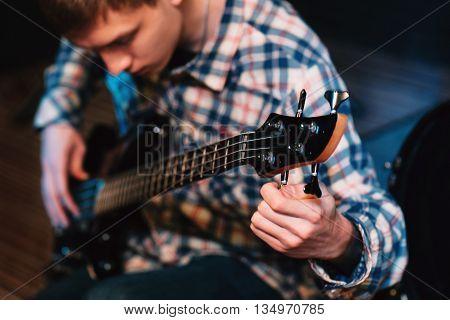 Music Bass Guitar Musician Hobby Leisure Lifestyle Talent Concept poster