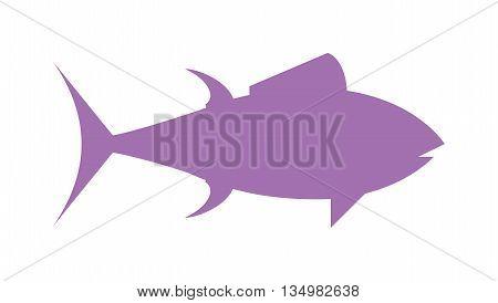 Tuna fish cartoon animals vector illustration. Healthy seafood tuna.