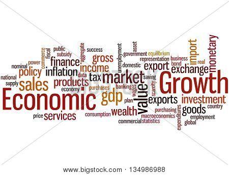 Economic Growth, Word Cloud Concept 6
