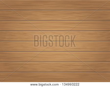 Wooden vintage background. Horizontal wooden weathered planks. Vector.