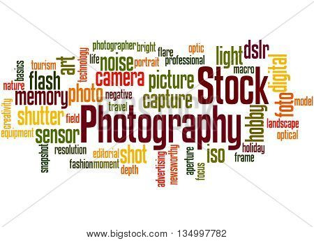 Stock Photography, Word Cloud Concept 3