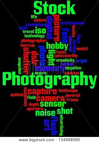 Stock Photography, Word Cloud Concept 9