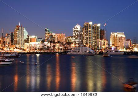 San Diego Bay, Skyline And Ocean