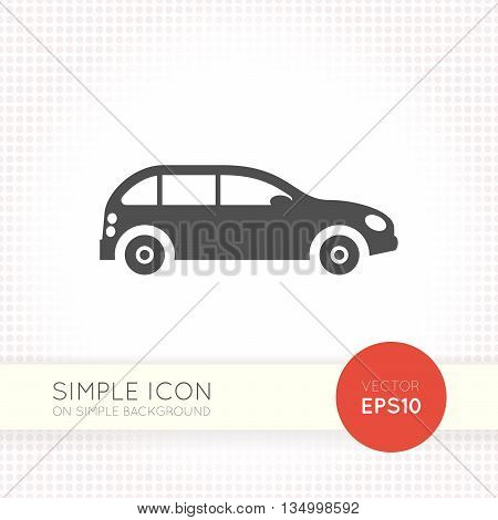 Car minimal flat icon. Car icon. Car icon eps. Car icon ai. Car icon drawing. Car icon button.