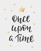 Lettering photography fairy tale girl overlay. Motivational quote. Cute inspiration typography. Calligraphy postcard poster photo graphic design element. Hand written sign. Princess party decor poster
