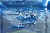 splash of water drops poster