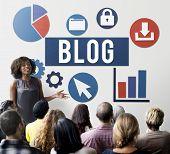 Blog Blogging Media Messaging Social Network Media Concept poster