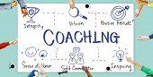 Coaching Coach Development Educating Guide Concept poster
