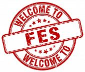 welcome to Fes stamp. welcome to Fes. poster