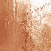 Shiny foil texture for background and shadow. Crease. Rose gold color poster
