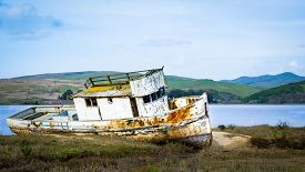 Shipwreck in Tomales Bay, north of San Francisco