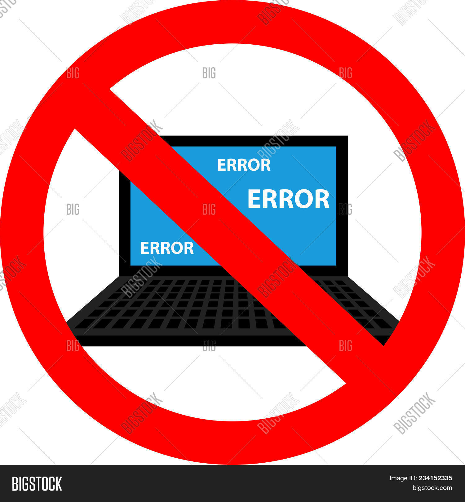 Blue Screen Error Vector Photo Free Trial Bigstock
