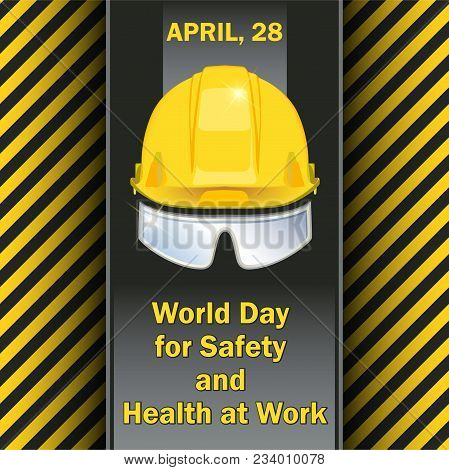 World Day For Safety And Health At Work - Postcard, Poster Or Banner