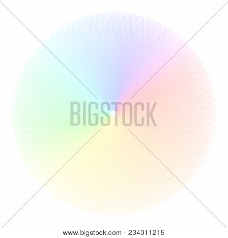Rainbow Color Wheel. Colorful Illustration Guide. Isolated