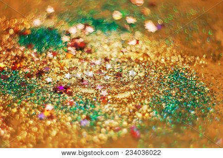 Candies, Sparkles And Sparkling Dust, Texture Of A Bright Blurred Spark Background, Blur, For Backgr