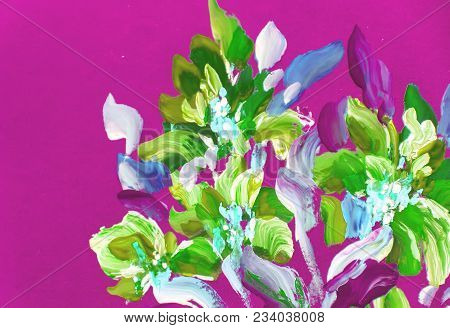 Painting Flowers  . Oil Painting, Impressionist Style, Flower Painting, Bright Colors