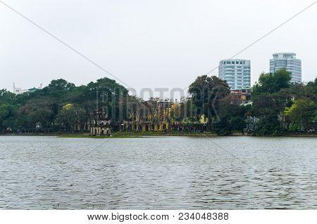 Hoan Kiem Lake, The Little Lake In The Old Part Of Hanoi, Vietnam