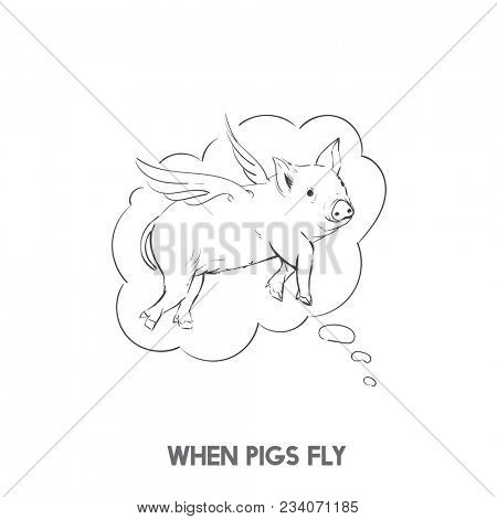 When pigs fly idiom