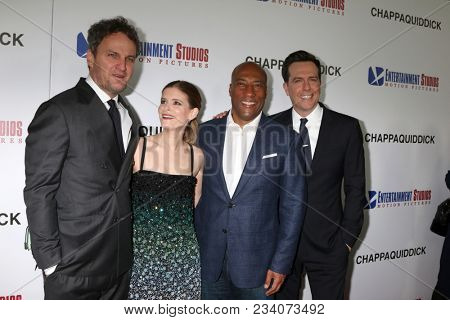 LOS ANGELES - MAR 28:  Jason Clarke, Kate Mara, Bryon Allen, Ed Helms at the