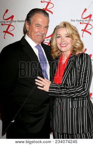 LOS ANGELES - MAR 26:  Eric Braeden, Melody Thomas Scott at the The Young and The Restless Celebrate 45th Anniversary at CBS Television City on March 26, 2018 in Los Angeles, CA