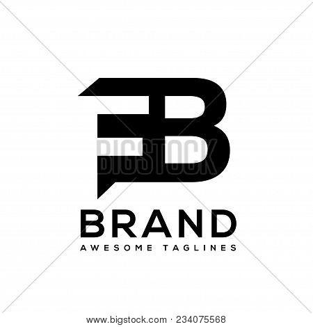 Creative Letter Fb Logo Design Black And White Logo Elements. Simple Letter Fb Letter Logo,business
