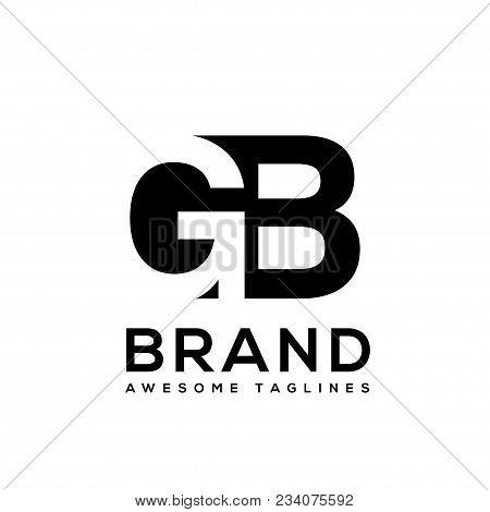 Creative Letter Gb Logo Design Black And White Logo Elements. Simple Letter Gb Letter Logo,business