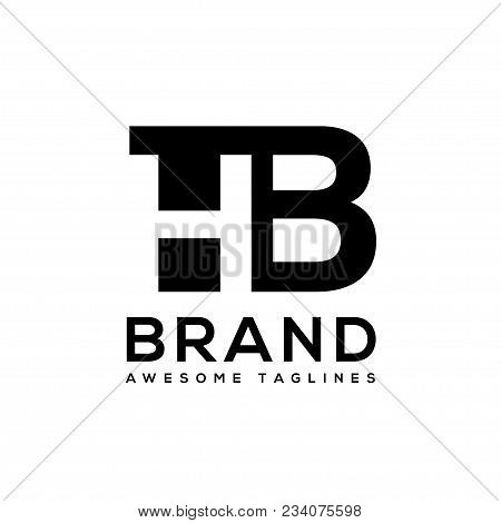 Creative Letter Hb Logo Design Black And White Logo Elements. Simple Letter Hb Letter Logo,business