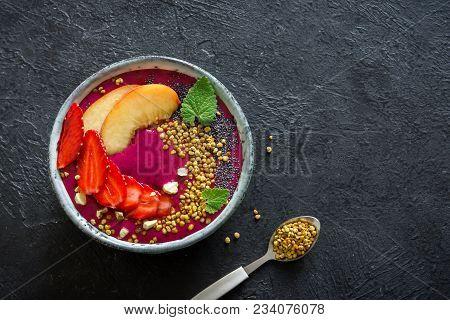 Acai And Fruits Smoothie Bowl