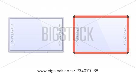 Pair Interactive Educational Boards, With Metal Frames, Electronic Materials, Slides, Software For A