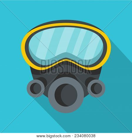 Respirator Icon. Flat Illustration Of Respirator Vector Icon For Web