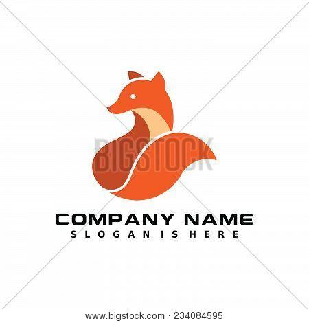 Fox Vector Symbol, Fox Sign Or Logo Template. Creative Fox Animal Face Modern Simple Design Concept.