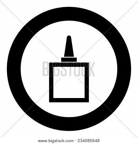 Glue Black Icon In Circle Vector Illustration Isolated