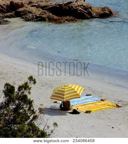 Image Of Relaxing On The Desolate Beach