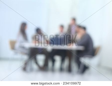 blurred image of business team.business background