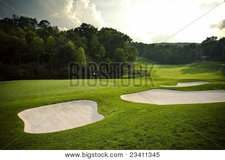 Golf Course with Sand Traps