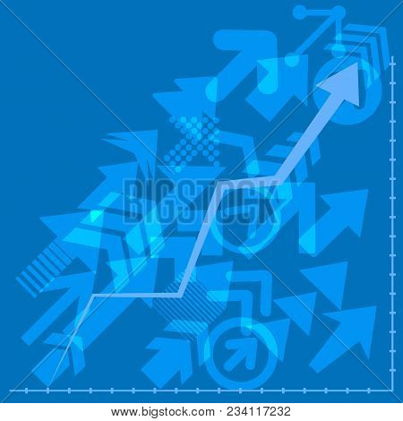Success Arrows, Vector. Financial Arrow Graphs. Arrows Directed Diagonally Up Business Concept.