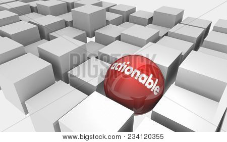 Actionable Sphere Special Opportunity Take Action Now 3d Illustration