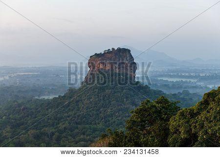 Beautiful Scenic View Of Mountains Covered With Green Plants, Sri Lanka, Sigiriya